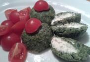 Polentovo špenátové gule