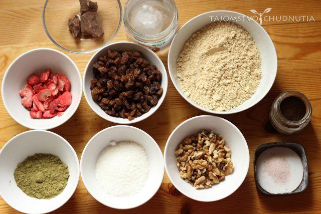 Gofio proteínové tyčinky - ingrediencie